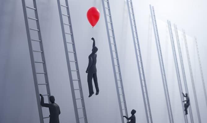 Balloon versus Ladder