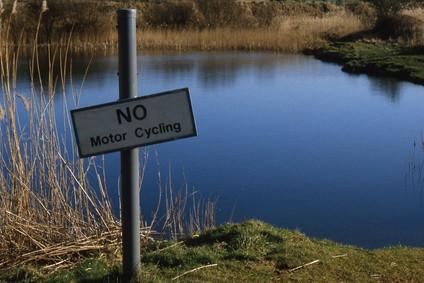 'No Motor Cycling' Image