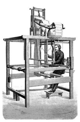 A 19th Century Jacquard loom.
